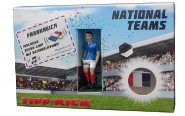 Star-Kicker Frankreich in Torwandbox